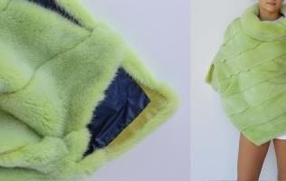 Pelliccia verde: rimessa a modello con colore alla moda