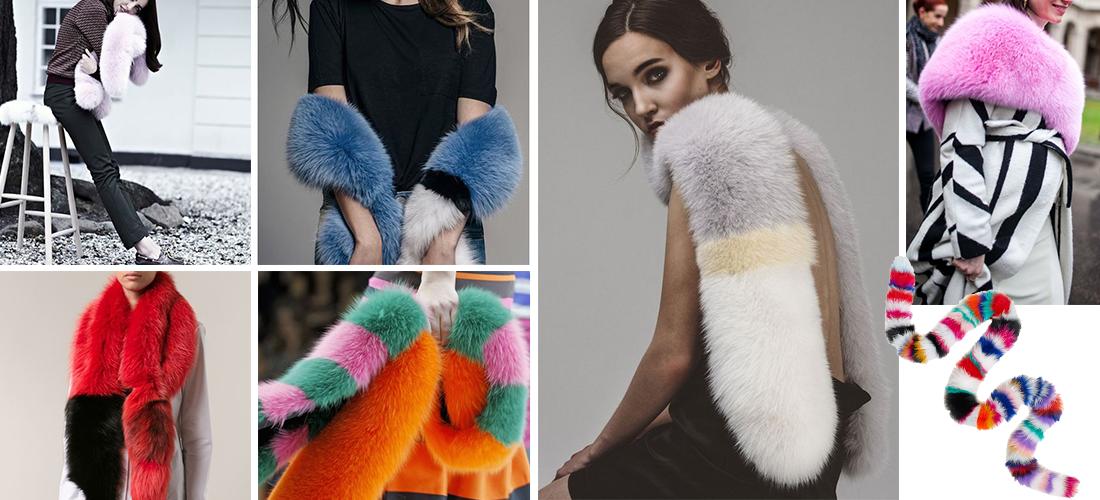 selezione migliore dc48a 23106 Sciarpe di pelliccia: accessorio moda ogni mese dell'anno