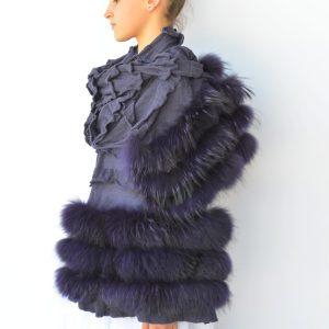 Sciarpa pelliccia e cachemire