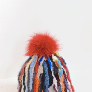 cuffia pelliccia colorata