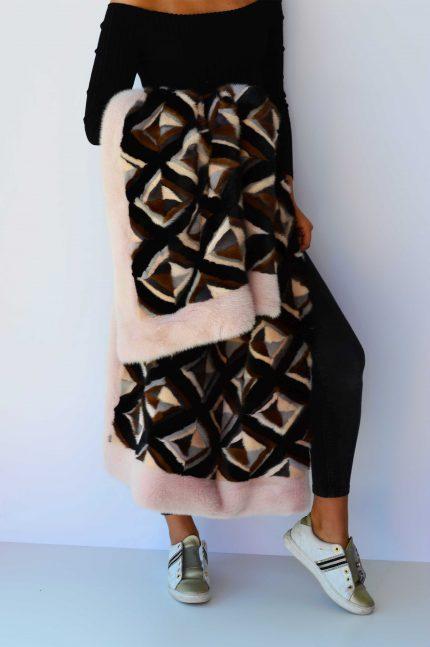 coperta patchwork visone