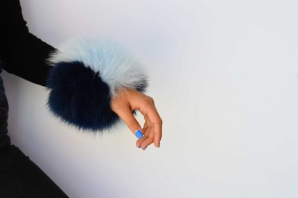 Polsi Clic Clac in pelliccia di volpe colorata