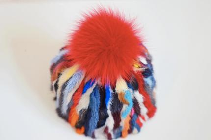 cuffia visone multicolor