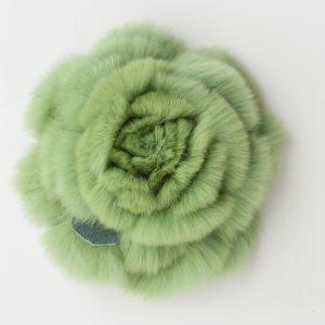 Accessori pelliccia spilla a fiore
