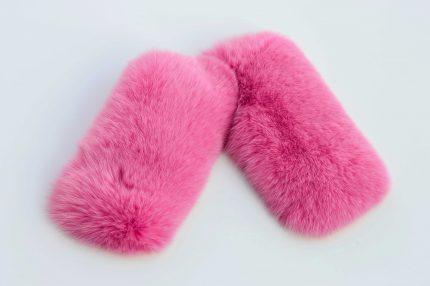polsi pelliccia colorata