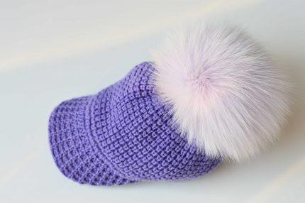 berretto pelliccia colorata