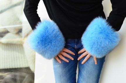 polsi pelliccia cappotto