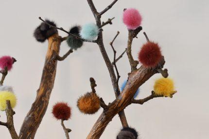 Decorazioni natalizie di pelliccia