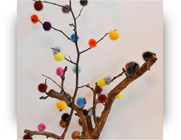 Decorazioni natalizie di pelliccia: 50 pom pom per l'albero di Natale