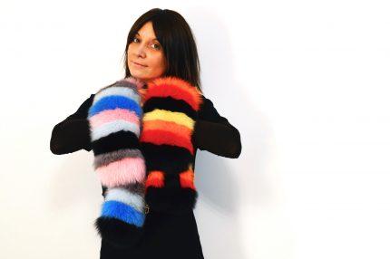 sciarpa di volpe multicolor