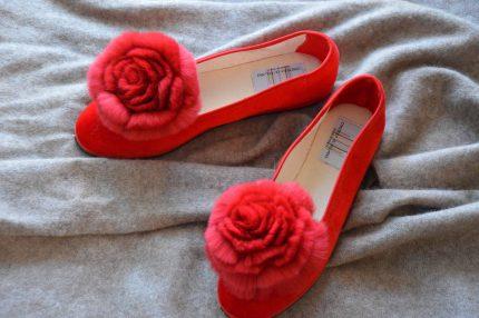 pantofole con pelliccia