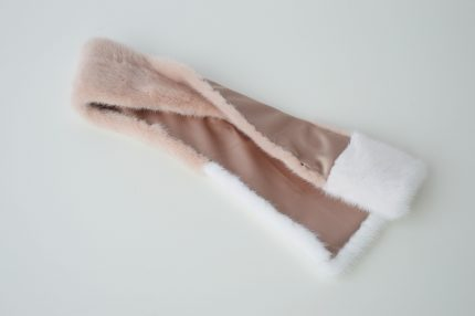 sciarpa pelliccia rosa