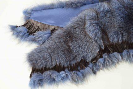 stola pelliccia colorata