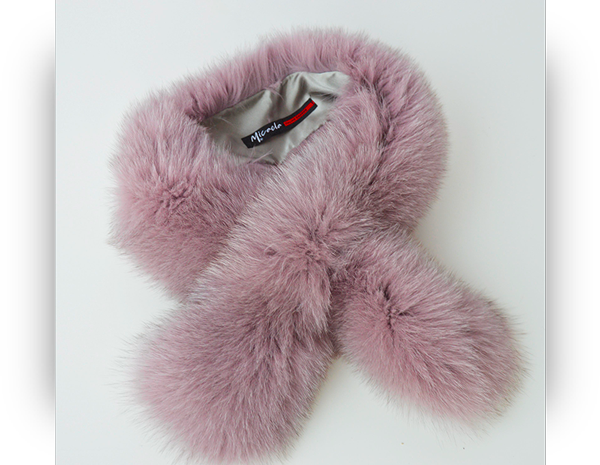 Collo di pelliccia di volpe di Groenlandia colore lilla