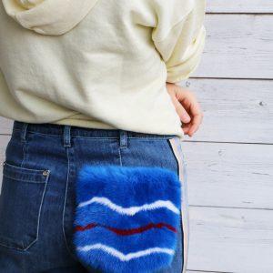 Applicazione jeans pelliccia