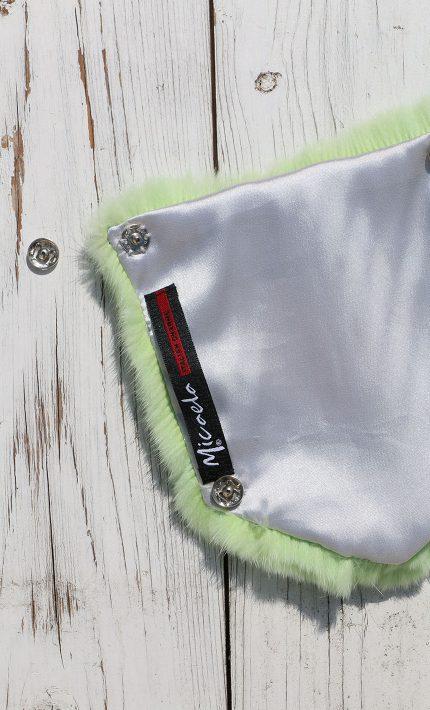Tasca posteriore jeans pelliccia