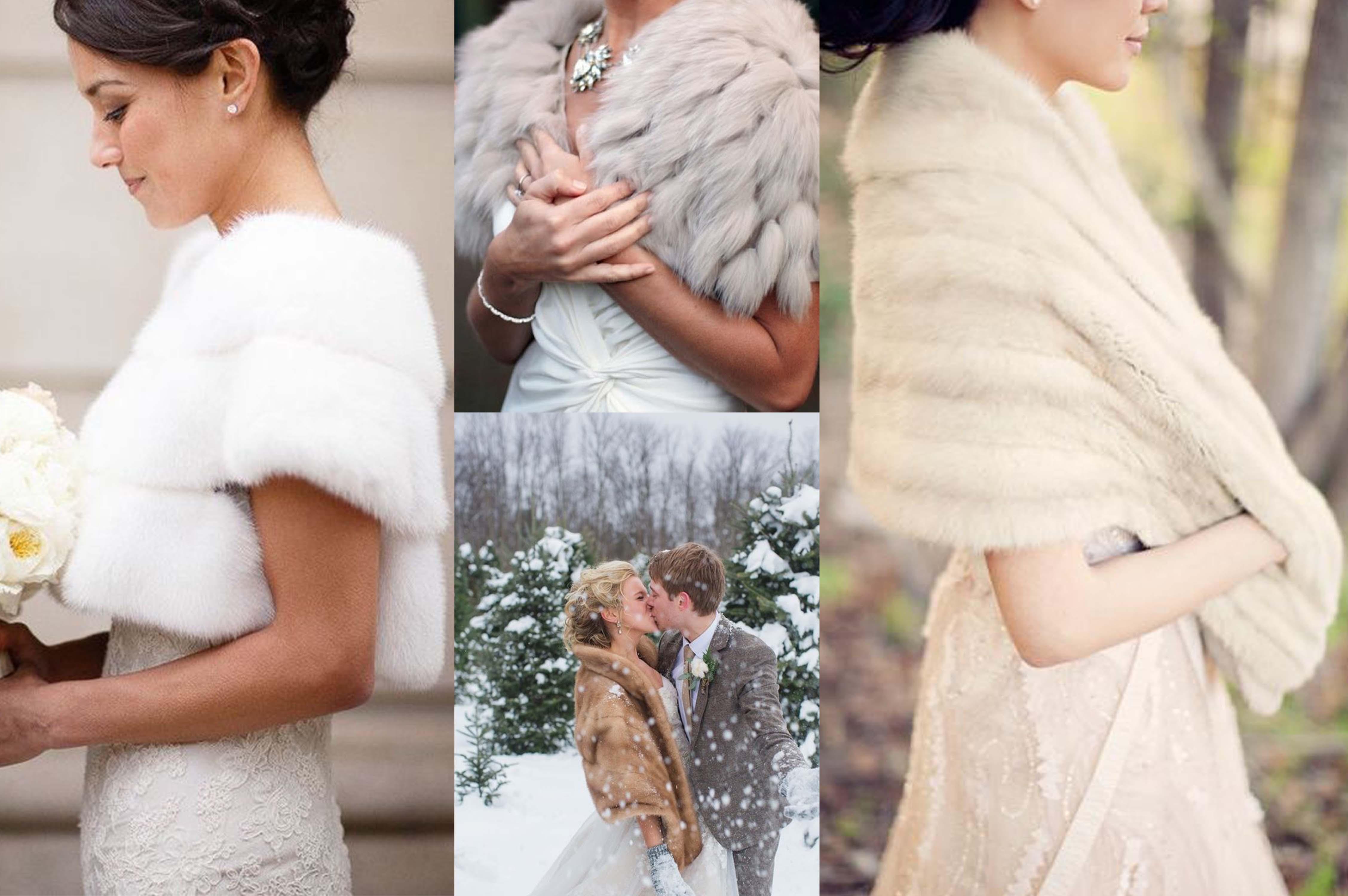304c6ef254cd Abito da sposa con pelliccia  come vestirsi per un matrimonio in inverno