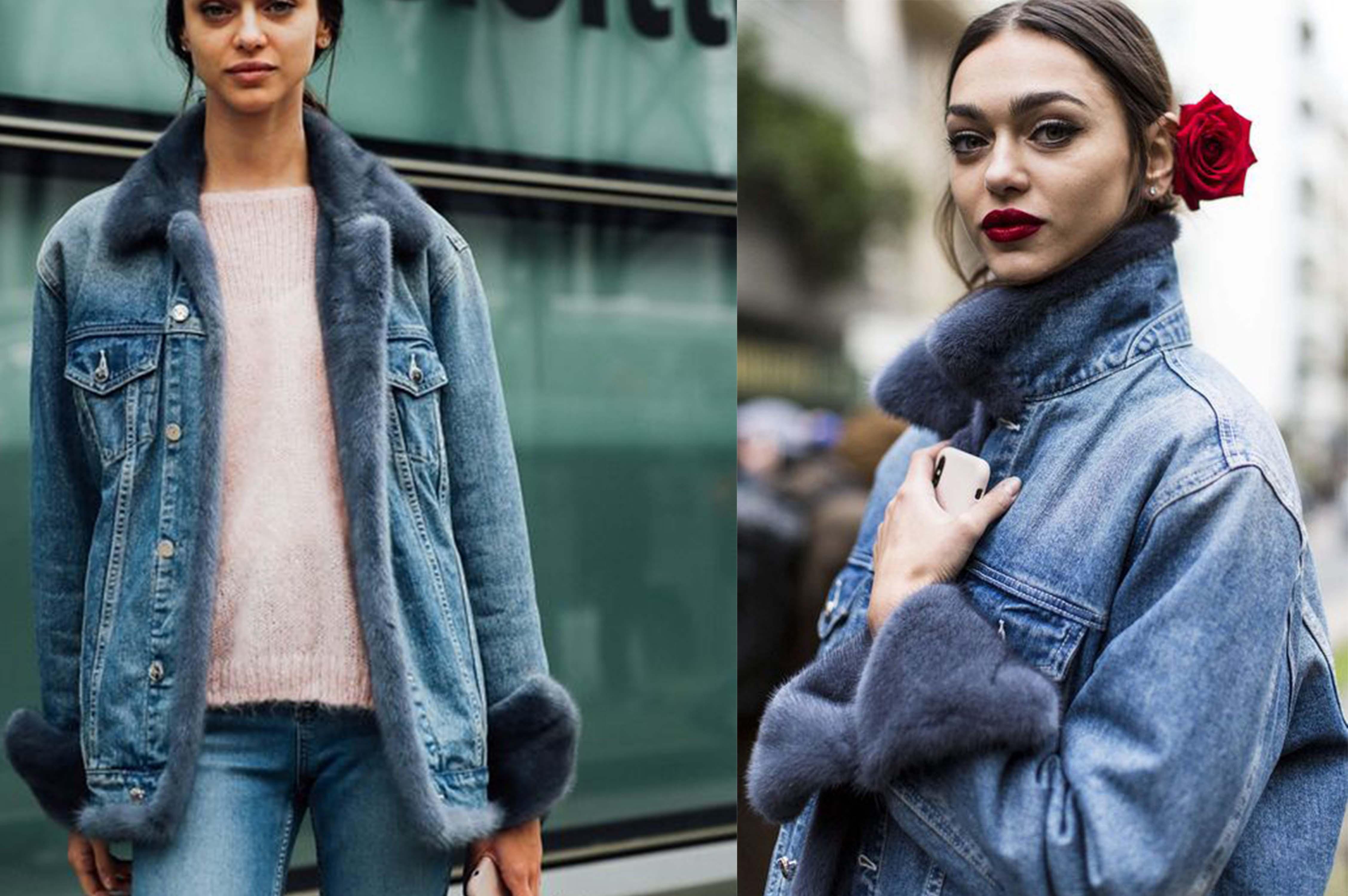 low cost a0510 6bacf Giacca di jeans con pelliccia: tornano in auge le fur denim ...