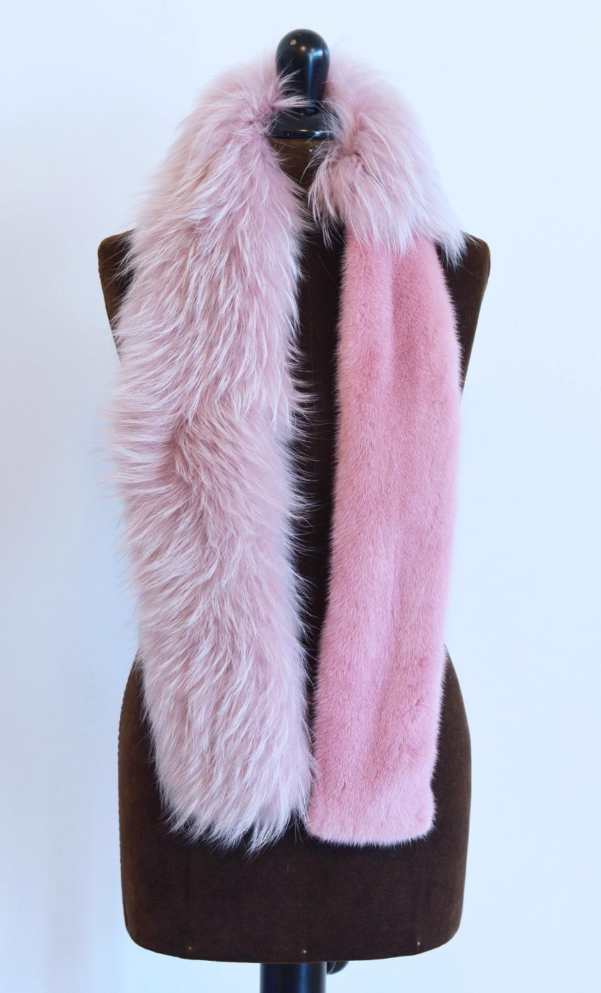 rivenditore di vendita 79bab 83051 Sciarpa di pelliccia volpe e visone colorati