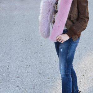 sciarpa di pelliccia