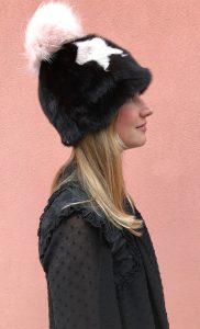 Cappello pon pon pelliccia