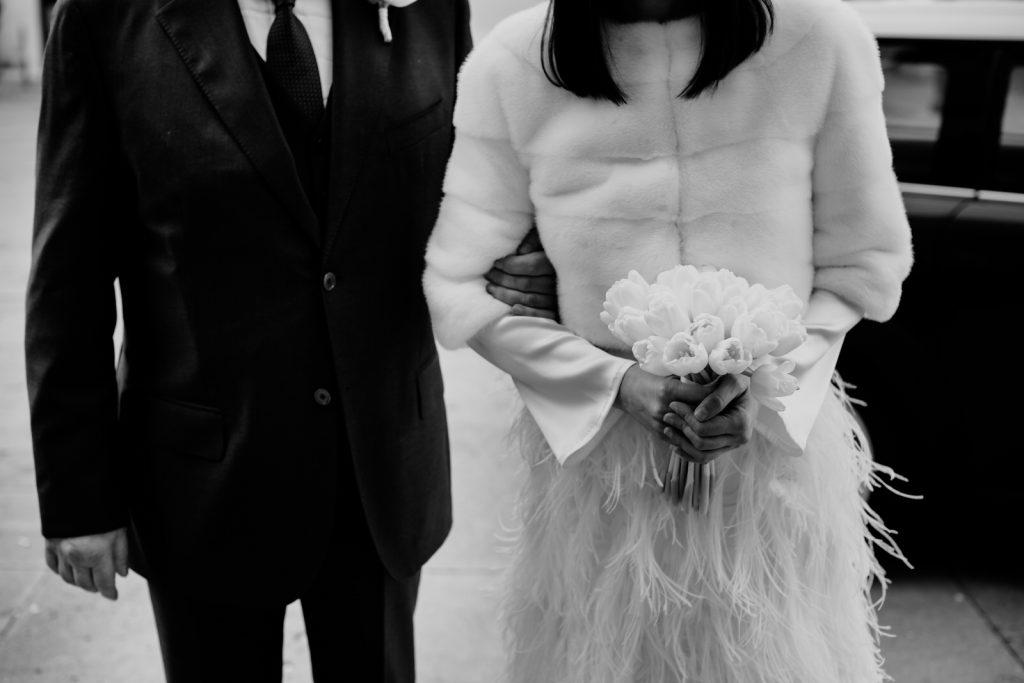 abito da sposa invernale