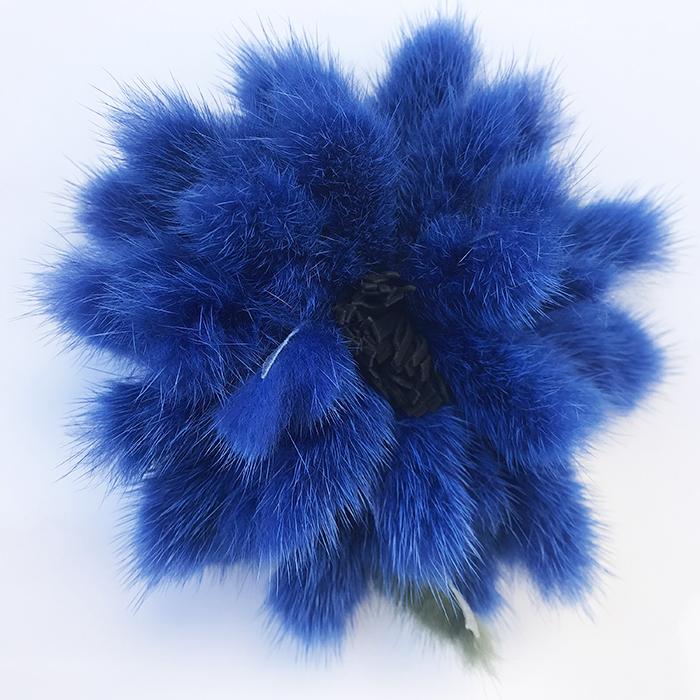 Spilla a fiore blu 01