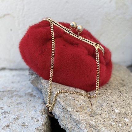 borsa pasticcino rossa