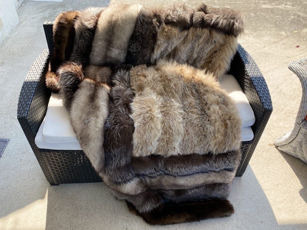 plaid di pelliccia